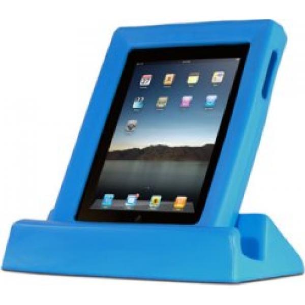 BigGrips - blau iPad Griff- und Sturzrahmen inkl. Tischständer