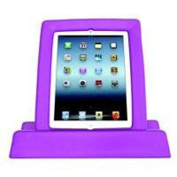 BigGrips Violett iPad Griff- und Sturzrahmen inkl. Tischständer